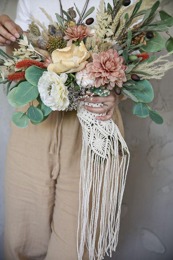 Macrame Wedding Bouquet