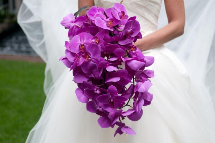 Single Colored Wedding Bouquet 1