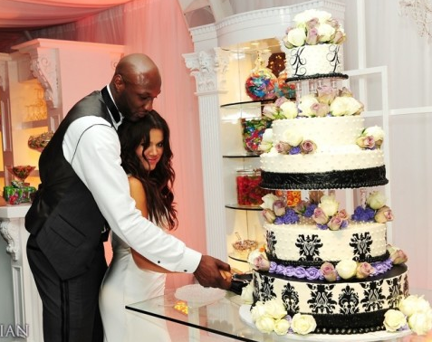 Khloe Kardashian and Lama Odom's Wedding Cake