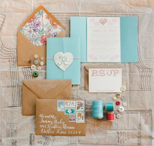 Embroidered Wedding Invitations 1