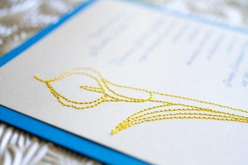 Embroidered Wedding Invitations 2
