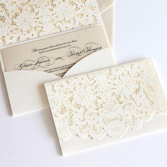 Lace Wedding Invitations 1