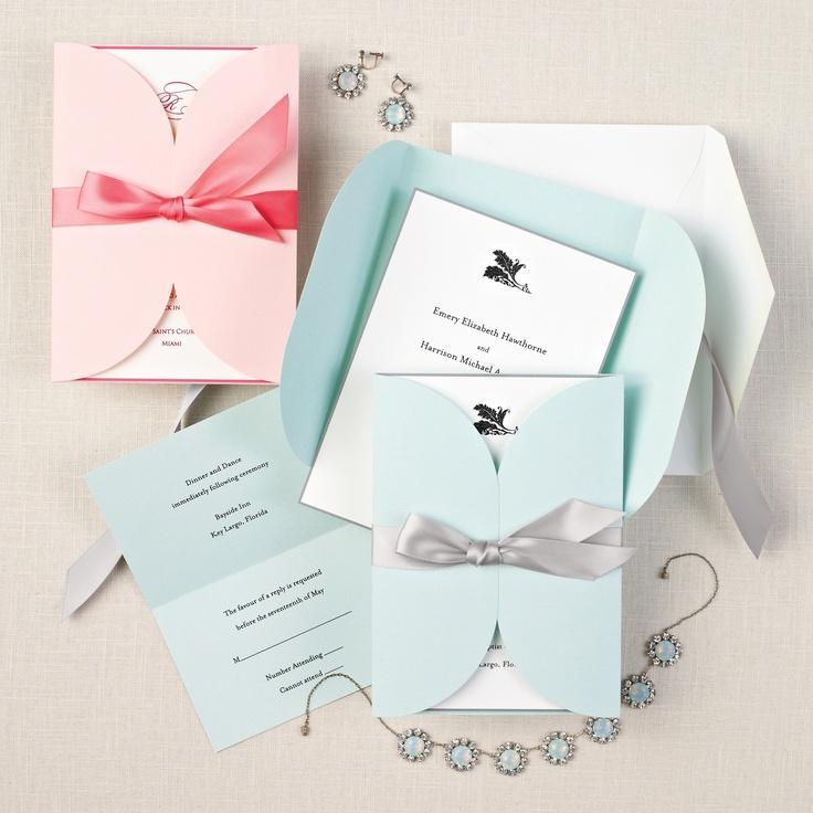 Pastel Wedding Invitations