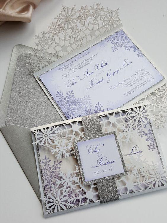 Snowflake Wedding Invitations 2