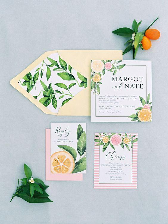 Spring Wedding Invitations 1