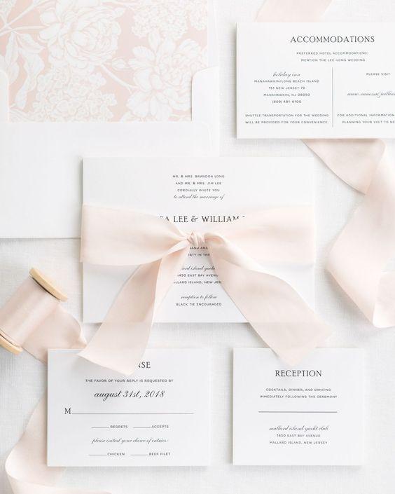 Ribbons Wedding Invitations