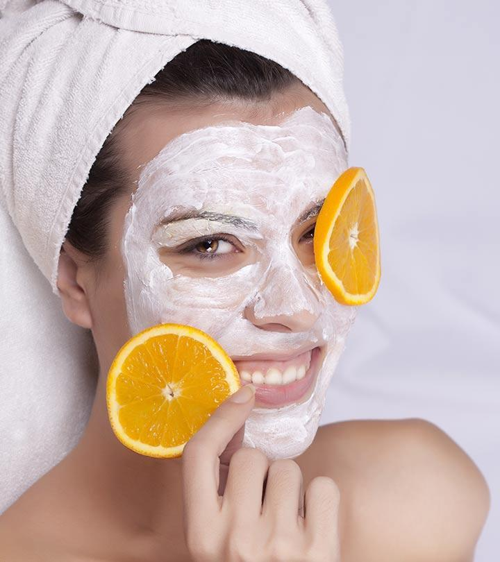 Banana and Orange Face Mask