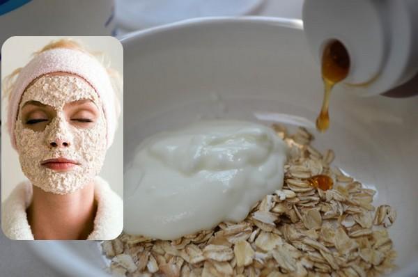 قناع الشوفان واللبن لتنظيف البشرة