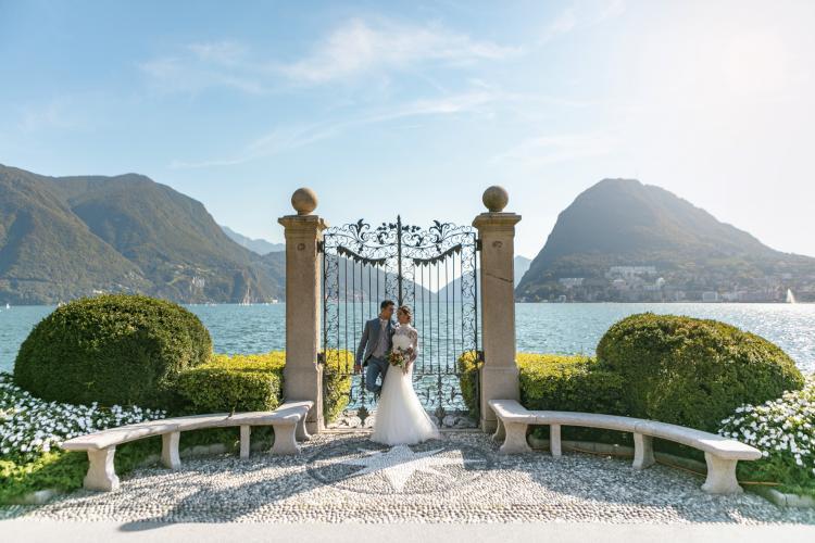 Destination wedding in Lugano, Switzerland