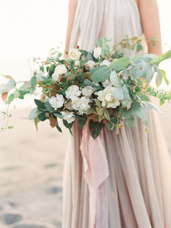 Wide Bridal Bouquets