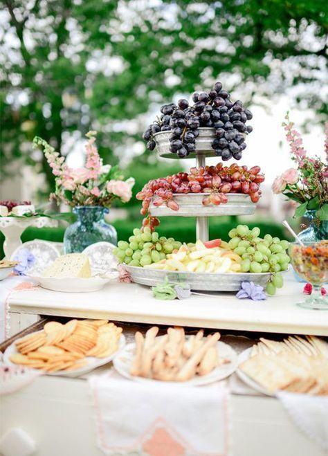 Spring Wedding Food