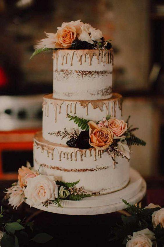 كيكات زفاف مستوحاة من فصل الخريف