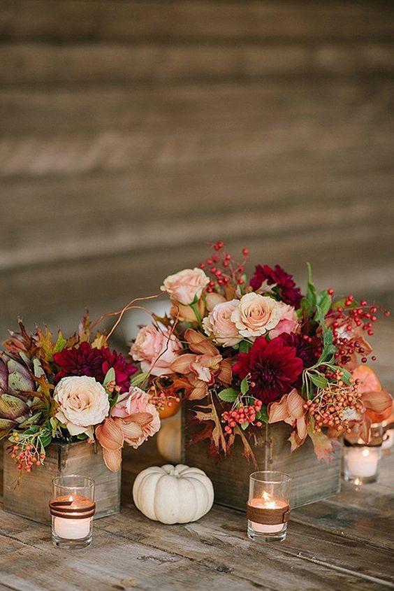 Fall Wedding Centerpieces 2