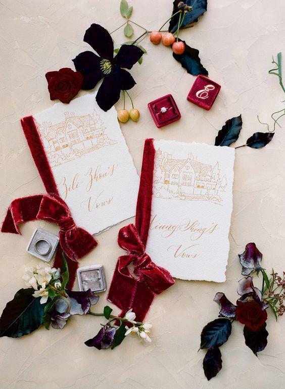 Velvet Wedding Ideas
