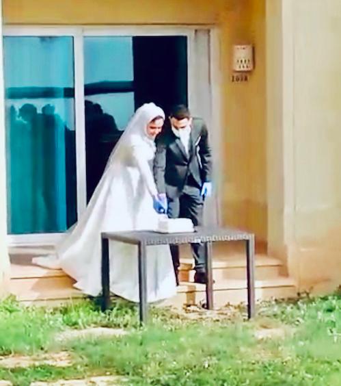 A Quarantined Couple at the Dead Sea, Jordan