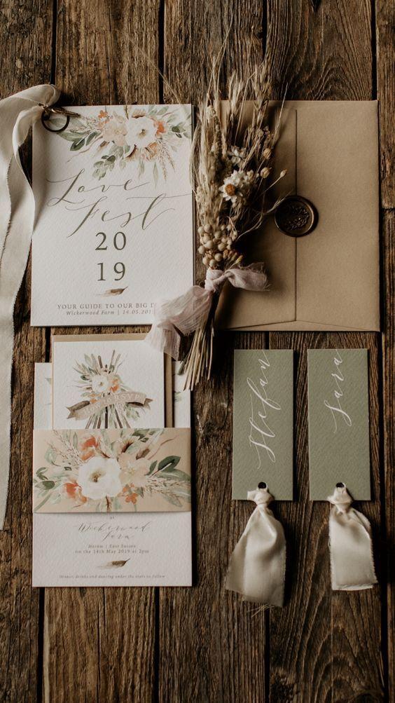 Fall Inspired Wedding Invitations 1