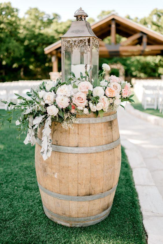Barrels Wedding Decor Ideas