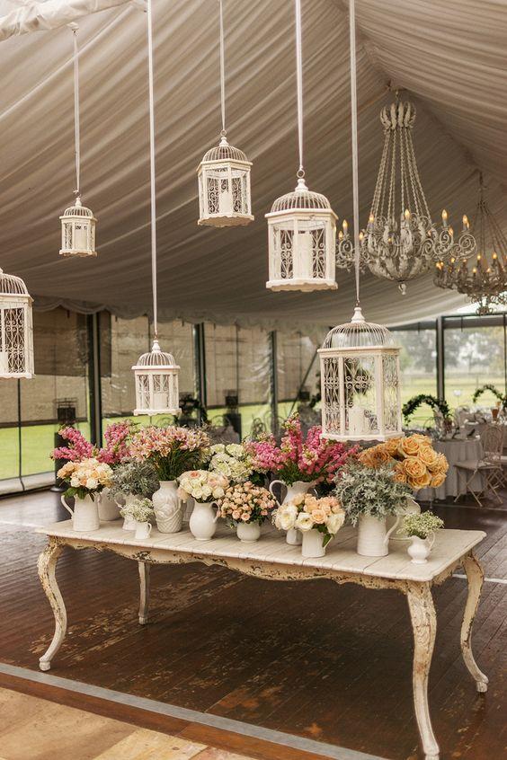 Bird Cages Wedding Decor 1