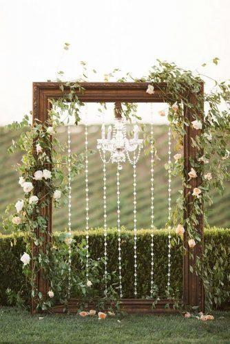Wood and Floral Wedding Backdrops 1