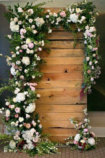 Wood and Floral Wedding Backdrops