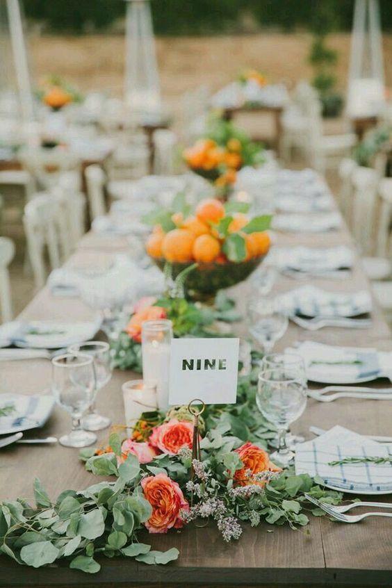 Citrus Wedding Theme Ideas