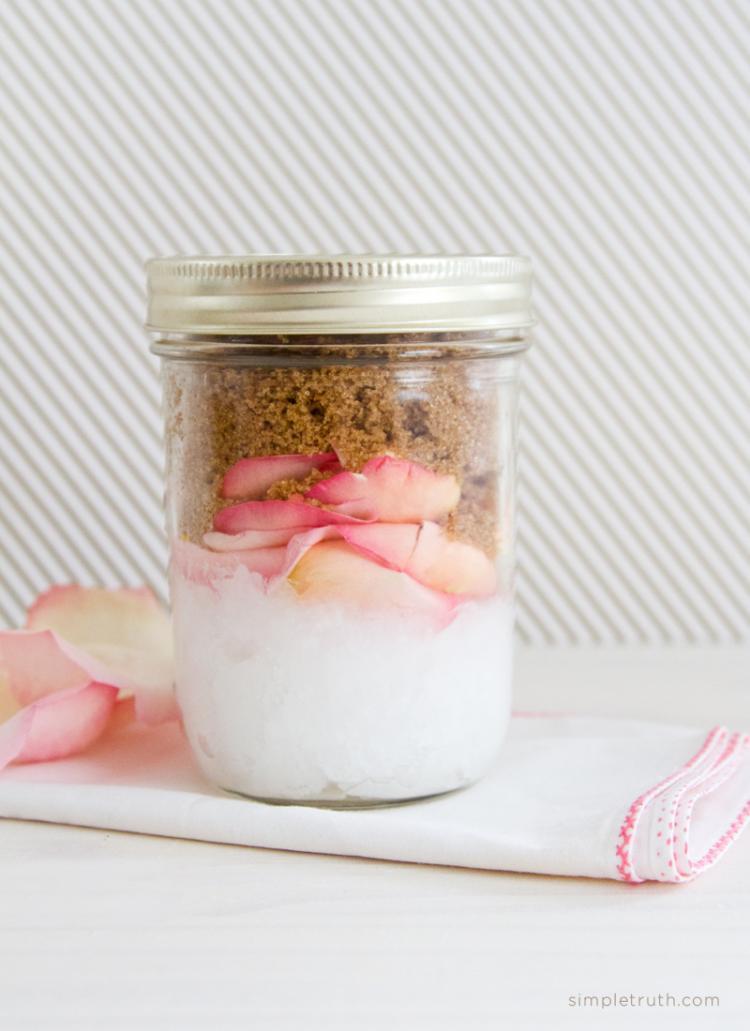 Coconut and Rose Body Scrub