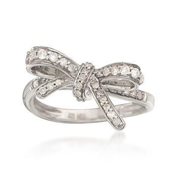Bow Engagement Ring