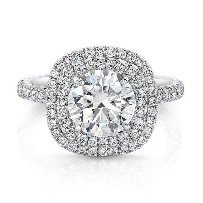 Double Halo Engagement Ring 1