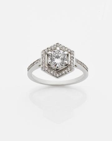 Hexagon Engagement Ring 1