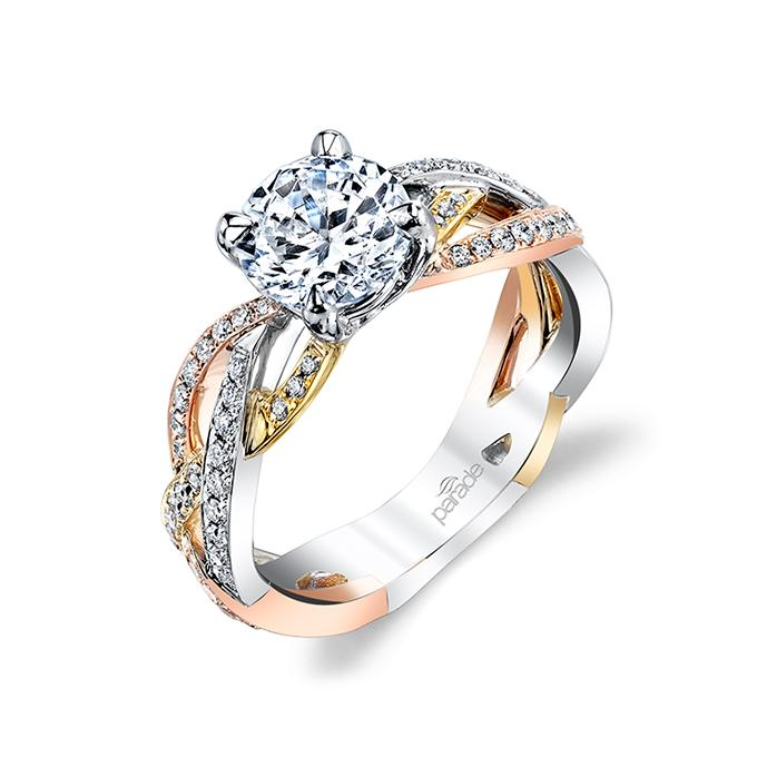 Mixed Metal Wedding Rings