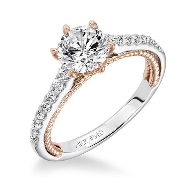 Mixed Metal Wedding Rings 5