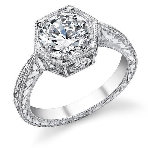 Hexagon Engagement Ring 2