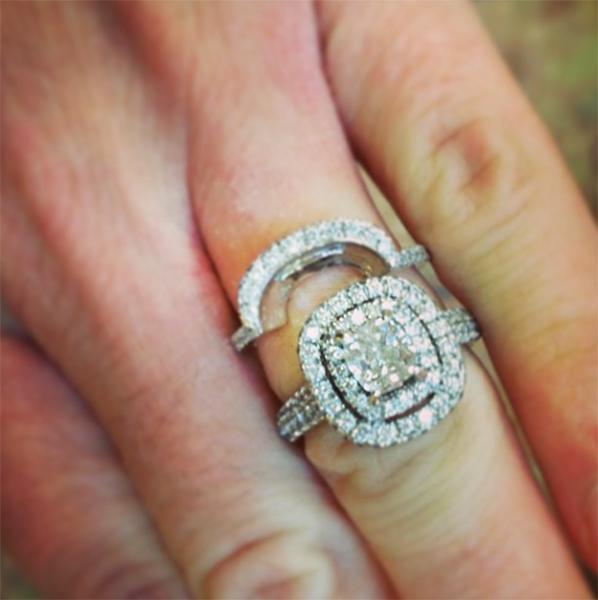 Elaborately Shaped Engagement Rings 1