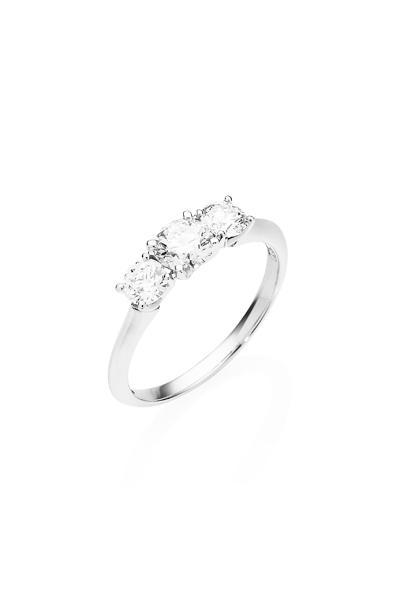 Diamond Cluster Wedding Rings 1