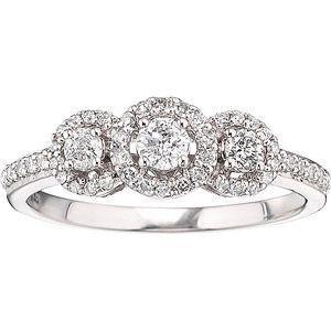 Diamond Cluster Wedding Rings