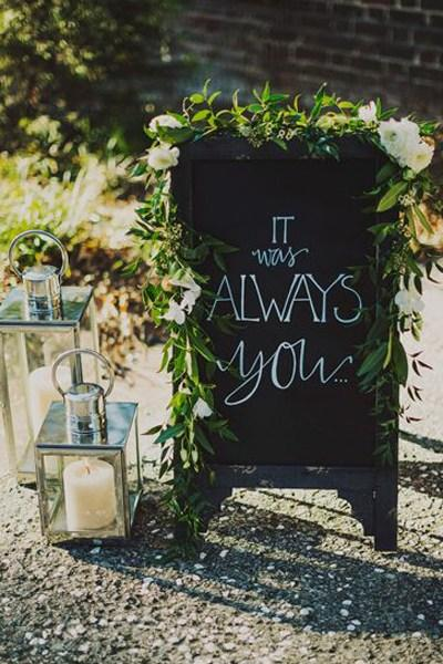 Romantic Wedding Signs