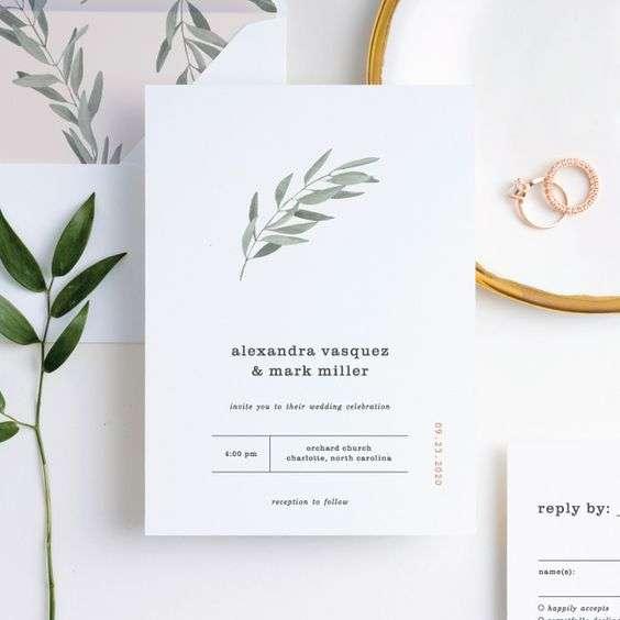 Olive Inspired Wedding Invitations