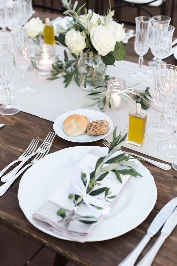 Olive Branch Table Decorations