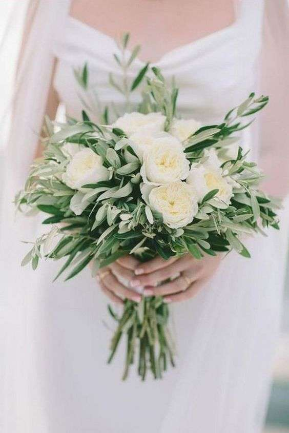 Olive Wedding Bouquet 1