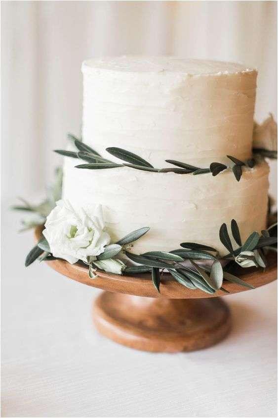 Olive Inspired Wedding Cake 1
