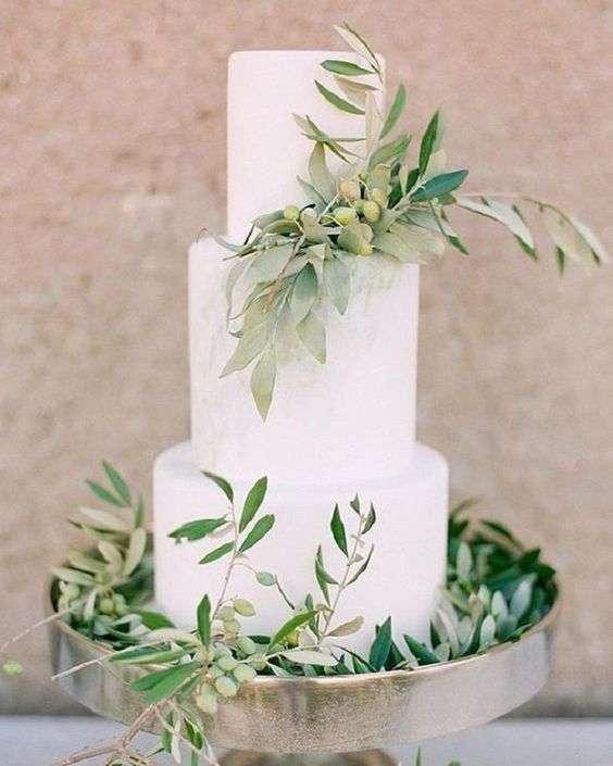 Olive Inspired Wedding Cake