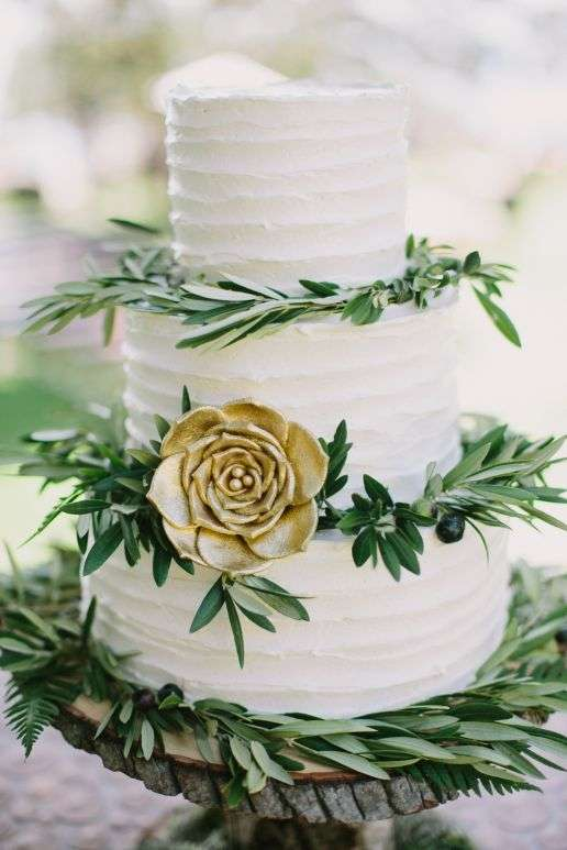 Olive Inspired Wedding Cake 2