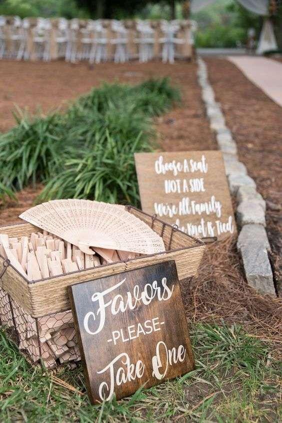 Fans Wedding Favors