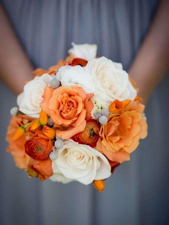 Orange and Ivory Wedding