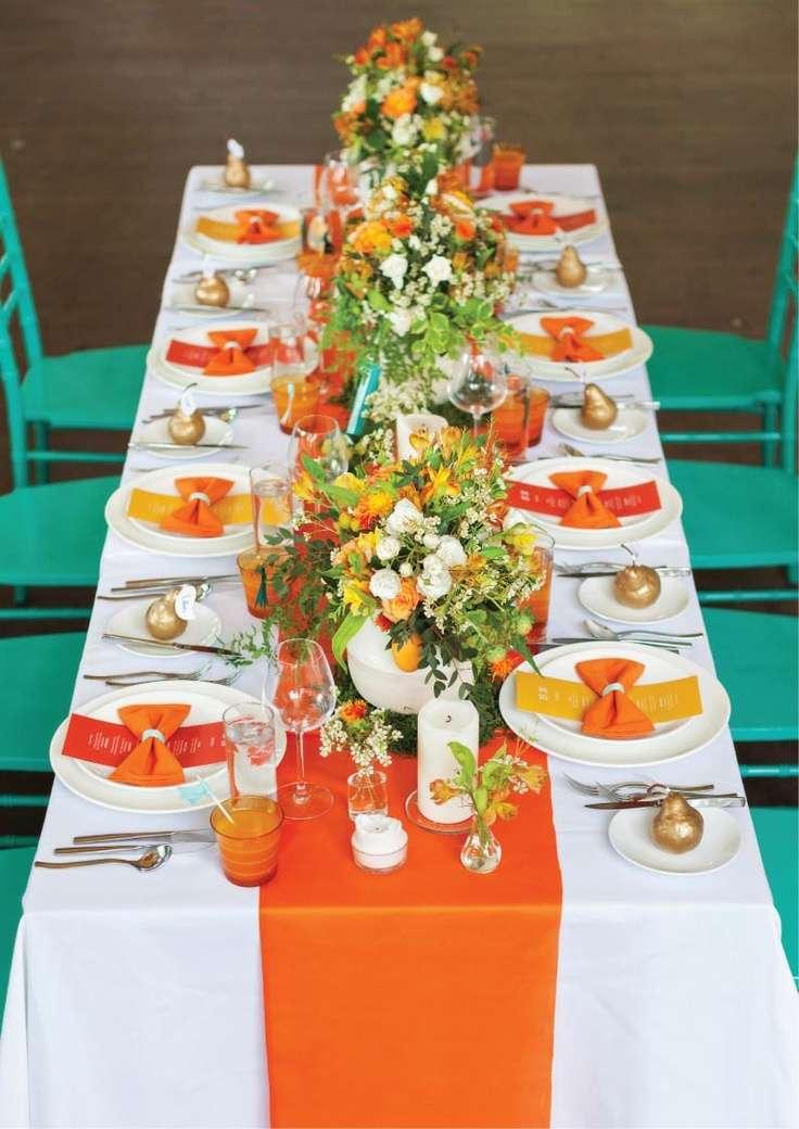 Yellow and Orange Wedding 3