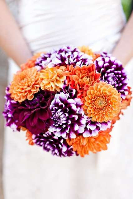 Purple and Orange Wedding 3