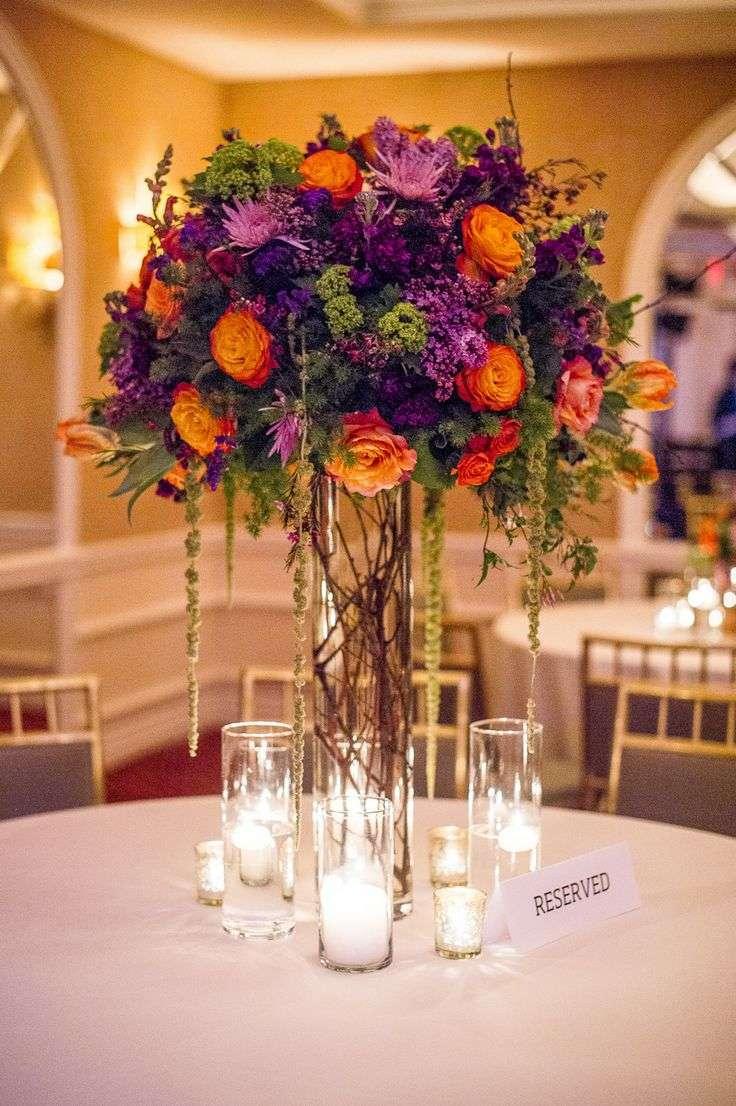 Purple and Orange Wedding 1