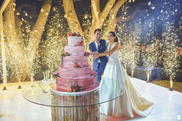 Yasmine and Wissam Wedding Cake