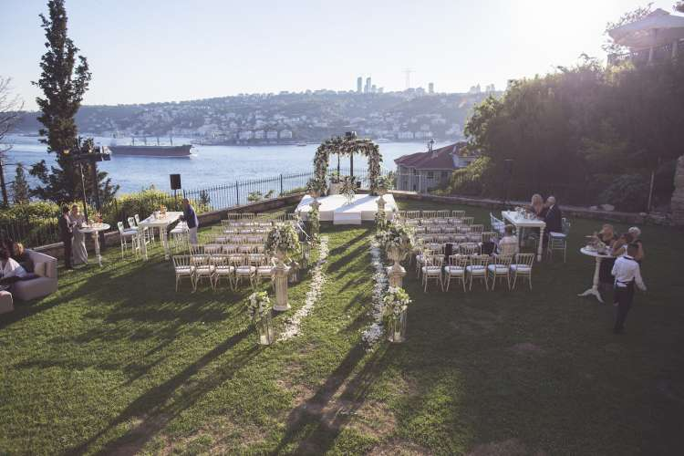 Wedding at Adile Sultan Palace in Istanbul by KM Events
