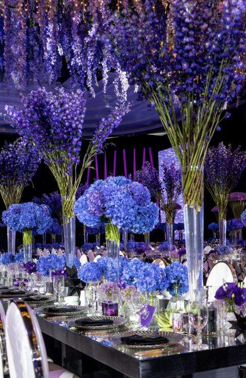 Blue and Purple Wedding 1